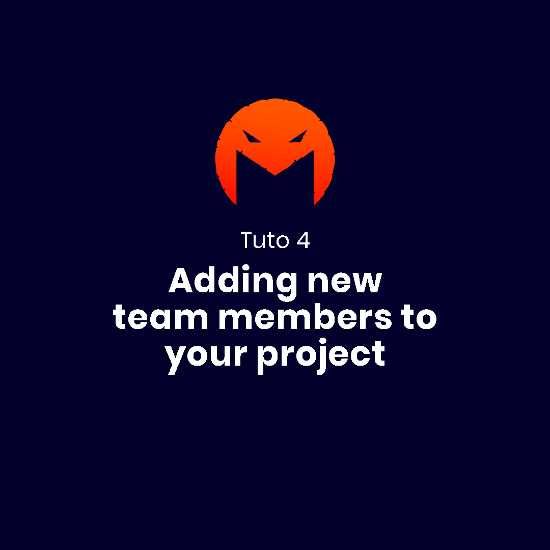 Adding new team members to your project